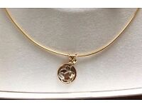 "Clogau 9ct gold Tree of Life Choker with White ""Moon Gold"" including Platinum"