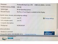 Windows 7 Office Desktop Tower PC Computer Dual Core 8gb 3.2Mhz 250gb HD