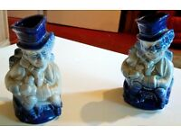 A PAIR OF SMALL BURLEIGH IRONSTONE TOBY JUG'S - VERY RARE & COLLECTIBLE - £45 ONO QUICK SALE - MINT