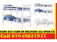 Convertible WOODEN Bunk Bed Frame Single Top Single Bottom Available LAKSI