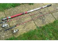 Carp Pole 11m and two fishing rods and reels