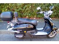 2012 LEXMOTO RETRO STYLE 125cc Scooter LEARNER LEGAL Moped LONG MOT Electric Start TWIST & GO VGC