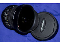 Samyang 8mm Fish-Eye lens, f3.5, 'four-thirds' mount.