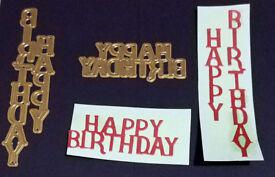 Happy Birthday Metal Dies - Horizontal & Vertical Design Set of 2 - New FREE P&P