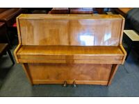 Gorgeous Gloss Walnut 'Kemble' Compact Upright Piano - CAN DELIVER