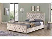 HUGE SALE ON FRAME BEDS!! CRUSHED VELVET FLORENCE STYLE