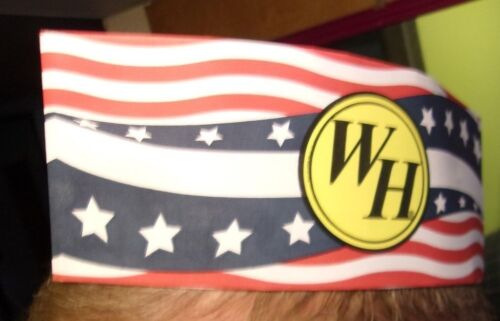 100 rare PATRIOTIC Waffle House Grill Operators Adjustable Paper Hat New In Box