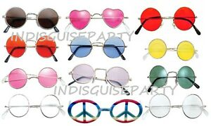 Beatles-60s-Lennon-Round-Hippy-Hippie-Ozzy-70s-Fancy-Dress-Sunglasses-Glasses