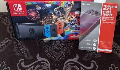 Nintendo Switch Console Mario Kart 8 Deluxe Bundle + 3 Month Online Membership