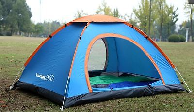 TurnerMAX Outdoor KANGTO 4 Person Easy Pop-Up Camping Hiking Fishing New Tent