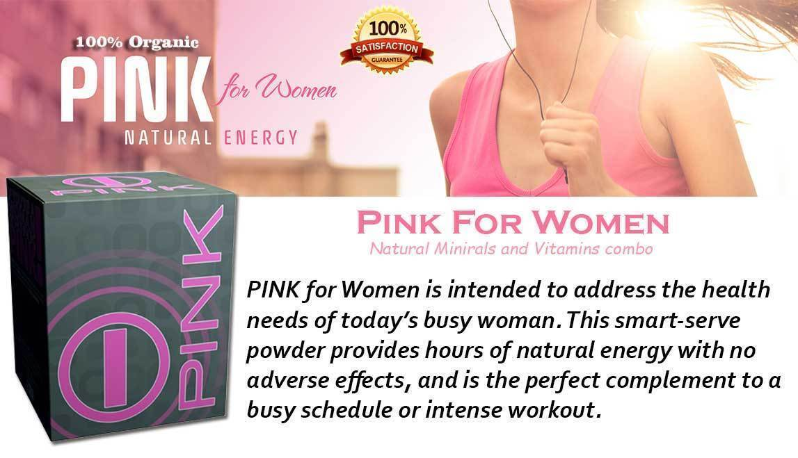 PINK for WOMEN by BHIP GLOBAL Natural Energy & Fitness with Dietary Supplements 1
