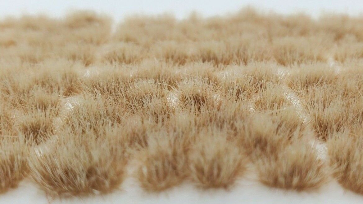 Self Adhesive Static Grass Tufts for Miniature Scenery -Desert Beige- 4mm