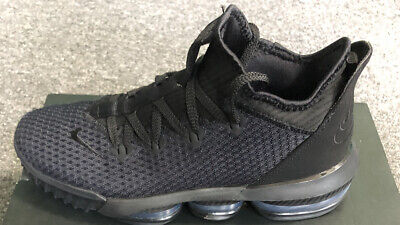 Lebron XVI Low Triple Black Nike Air Basketball Shoes Pre-owned Men's Size 8