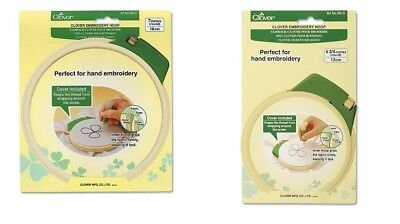 - Clover Embroidery Hoop Hand Cross Stitching Plastic Craft Tool SELECT YOUR SIZE!
