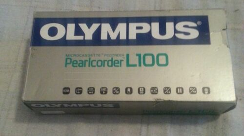 Vintage Olympus Pearlcorder L100 Microcassette Recorder WORKS PERFECTLY..(C2B1)