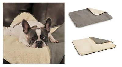 Thermapet Burrow Dog Blanket Thermal Lining Suede Berber Throw Blankets For Dogs