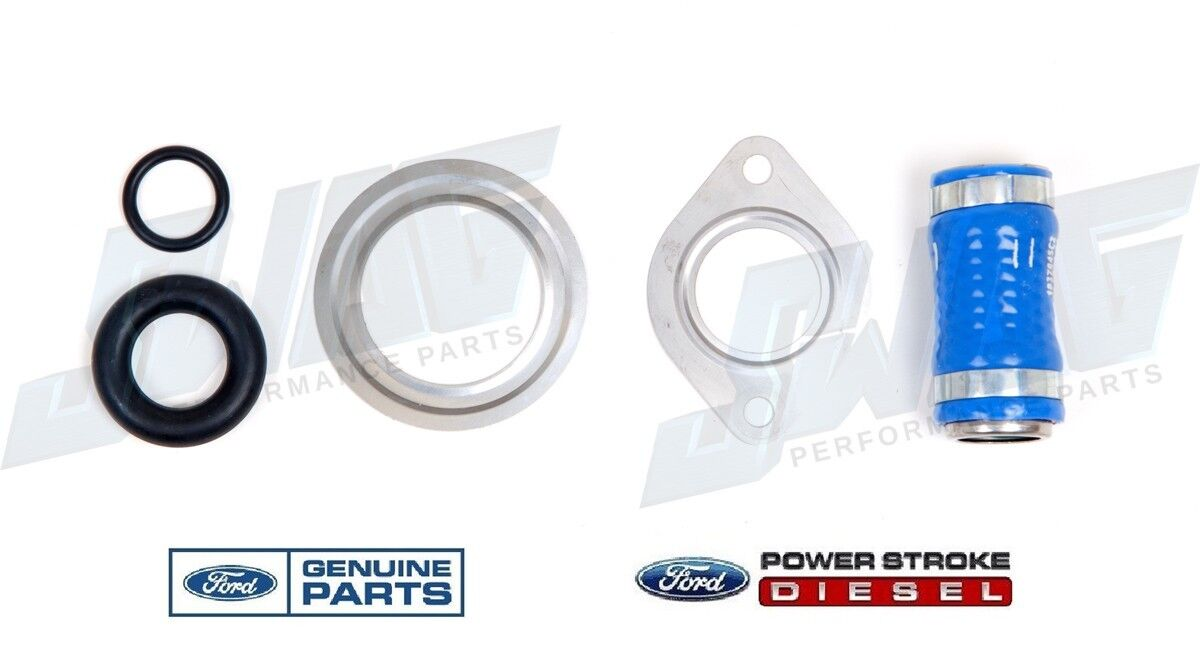 OEM For Ford Diesel 6.0 EGR Valve Cooler Intake Manifold Gasket Set Kit /& Hose
