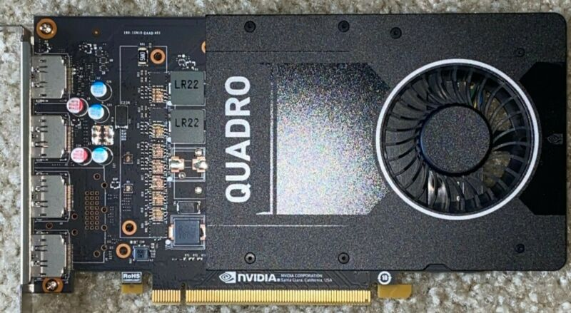 PNY NVIDIA Quadro P2000 Workstation Graphic Card - 5 GB GDDR5 - 4 Display Ports