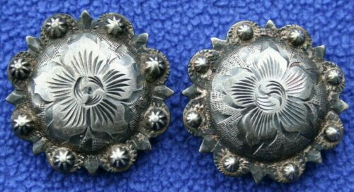 2 VTG VOGT STERLING SILVER WESTERN BRIDLE HEADSTALL SPURS CHAPS BERRY CONCHOS