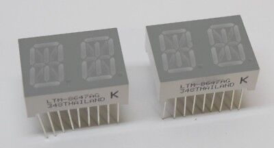 Lot 2x Dual Digit 1 14 Segment Alpha Numeric Green Led Digital Display Arduino