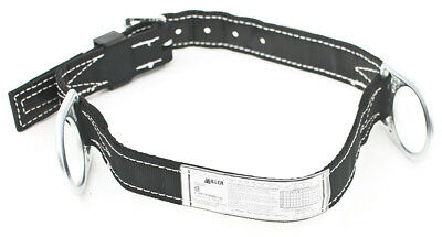 Miller By Honeywell 124nmbk Double D-ring Lined Body Belt W 1-34 Webbing Med