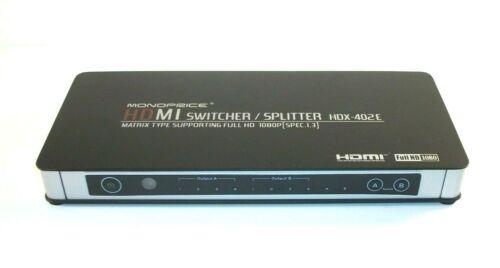 Monoprice HDMI Switcher / Splitter HDX-402E Matrix Type Full HD 1080p