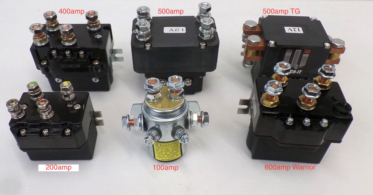 WINCH SOLENOIDS 12v 24v 100 - 600 AMP Heavy duty for ...