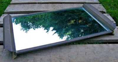 A LARGE VINTAGE BRASS MIRROR MIRRORED SHOP DISPLAY STAND  TRAY FREE P&P