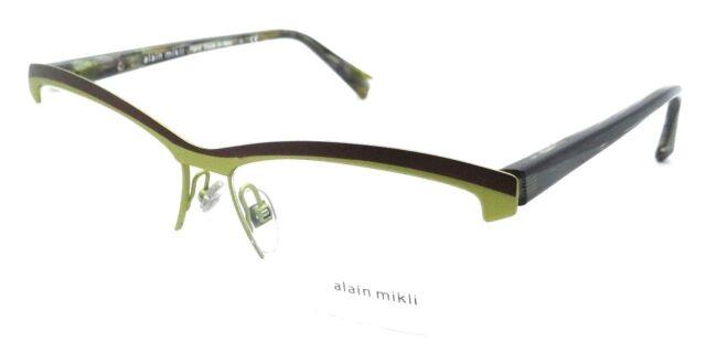 Alain Mikli A02012 0106 Matte Brown Green Eyeglasses 55mm   eBay