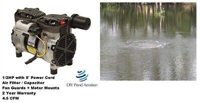 New 230v Gast Vacuum Compressor Pump 26hg 12hp Veneer Aerate 4.5 Cfm W Cord