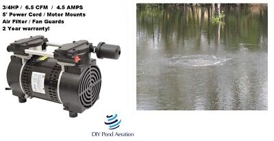 New 230v Gast Vacuum Compressor Pump 27hg 34hp Veneer Aerate 6.5 Cfm W Cord