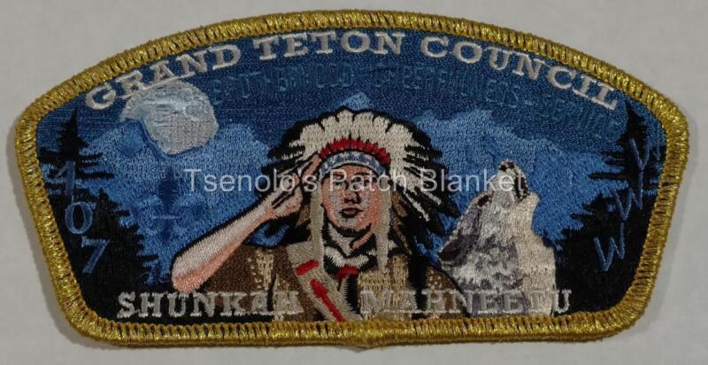 Grand Teton Council 2016 SA-New Lodge 407 Shunkah Mahneetu CSP Mint FREE SHIP