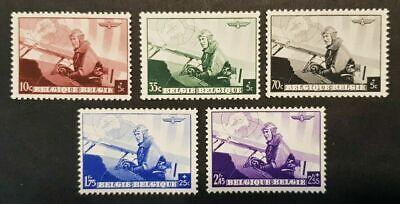 Belgie * Leopold III-Piloot/Aviateur-ocb466/70-1938-Planes-Vliegtuig-Avions-