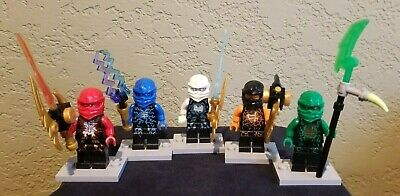 Lego Ninjago lot of 5 Airjitzu Minifigures - Kai, Jay, Zane, Cole, Lloyd - 2015