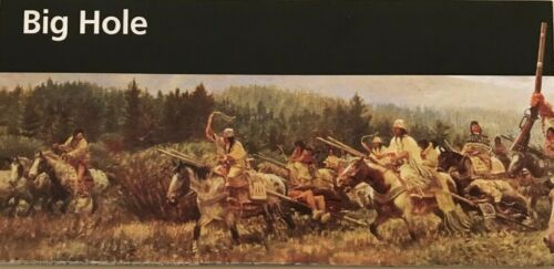 New BIG HOLE BATTLEFIELD - Montana  NATIONAL PARK SERVICE UNIGRID BROCHURE  Map