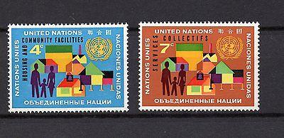 VEREINTE NATIONEN UNO NEW YORK MINR 114 115 POSTFRISCH