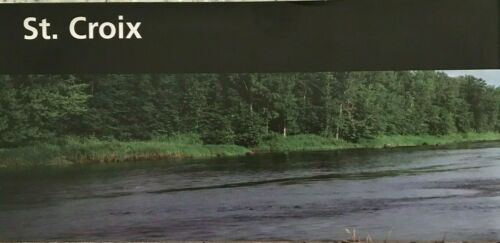 New ST. CROIX SCENIC RIVERWAY - MN/WI NATIONAL PARK SERVICE UNIGRID BROCHURE Map
