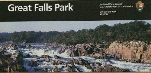 New GREAT FALLS PARK - Virginia  NATIONAL PARK SERVICE UNIGRID BROCHURE  Map