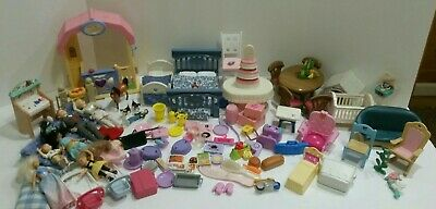 HUGE BARBIE LOT! furniture, accessories misc. cats, horse also small dolls.