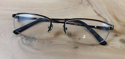 Ray Ban Authentic RB 6101 2503 Black Rimless Flex Eyeglasses (Ray Ban Rimless Prescription Glasses)