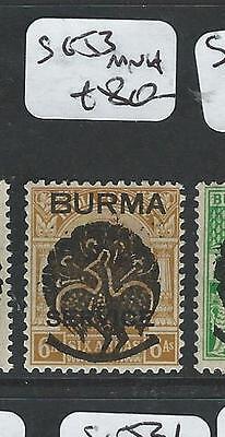 BURMA JAPANESE OCCUPATION (P3001B) ON INDIA SGJ3  MNH