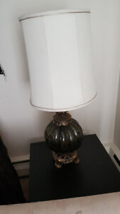 Vintage Lamp with Silk Lamp Shade