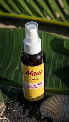 MAUI MIRACLE OIL Hawaiian KUKUI NUT NOURISHING OIL 4.5oz- Skin Hair Massage Bath