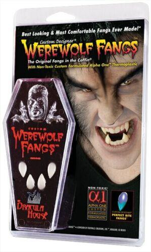 New Werewolf Custom Designer Fangs w/Coffin by Foothills Vampire Costumania