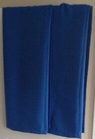Pair of lovely blue blackout lined curtains