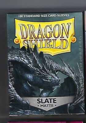 Dragon Shield Matte Slate (100) Shield Sleeves Free Shipping