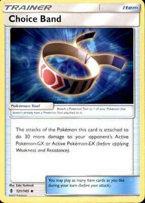 Uncommon Card (2x Pokemon Guardians Rising Choice Band #121/145 Uncommon Card )