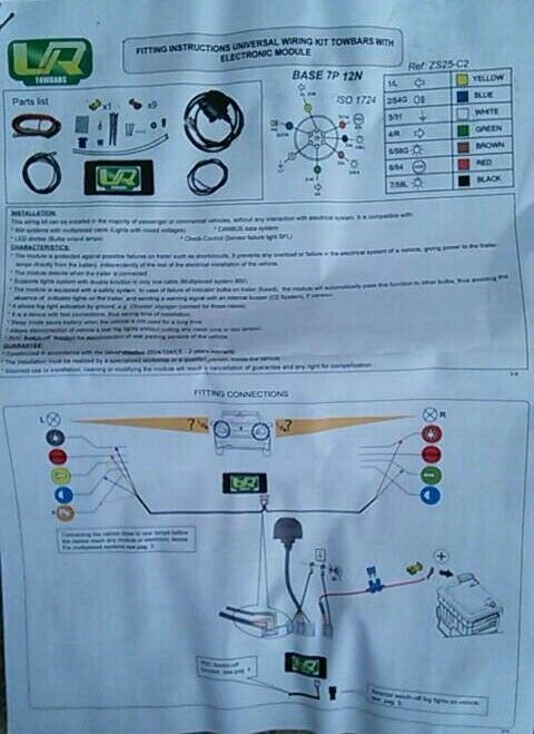 Volvo S40 2004+ fixed swan neck towbar 7 pin electrics   in Didcot ...
