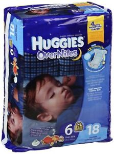 Huggies OverNites Diapers, Size 6, Unopened packages