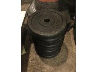 York 5Kg Standard Cast Iron Weight Plates (40Kg)